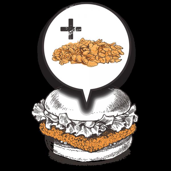 Grubers Burgers | Riccardo Giraudi | Restaurant | Cheesegrubers Chicken Pop-corn