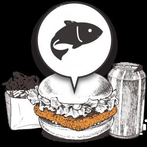 Grubers Burgers | Riccardo Giraudi | Restaurant | Formule Cheesegrubers Fish